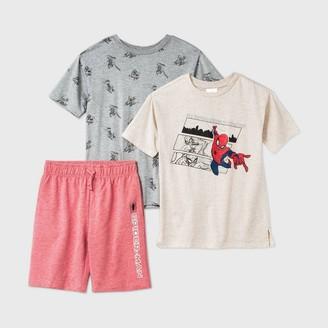 Marvel Boys' Spider-Man 3pc Jogger Shorts Set -