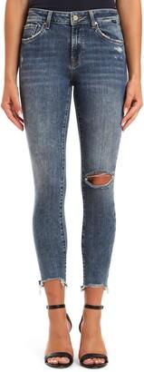 Mavi Jeans Alissa Ripped Destroyed Hem Skinny Jeans