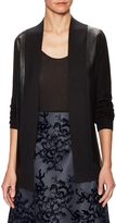 Carolina Herrera Women's Perforated Leather Contrast Cashmere Cardigan