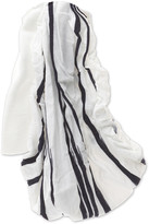 Elle Wide White & Navy Stripe Head Wrap