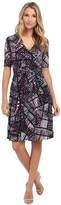 Donna Morgan D3623M Multi-Print Wrap Dress