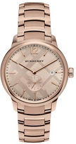 Burberry The Classic Round Rose-Goldtone Stainless Steel Bracelet Watch