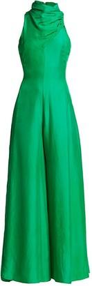 AMUR Patrice Silk Wide-Leg Jumpsuit