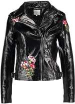 Vila VIPATINA BIKER Faux leather jacket black