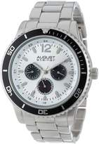 August Steiner Men's AS8059SS Quartz Multi-Function Divers Bracelet Watch