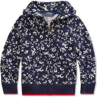 Polo Ralph Lauren Little Girls Floral Cotton Terry Hoodie
