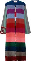 Ports 1961 striped long coat - women - Cotton - S
