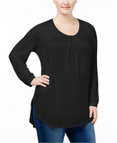 Melissa McCarthy Trendy Plus Size Lace-Trim T-Shirt
