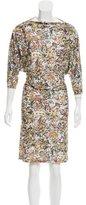 Henrik Vibskov Belted Abstract Print Dress