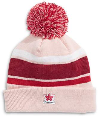 Canadian Olympic Team Collection Pom Striped Fleece-Lined Tuque