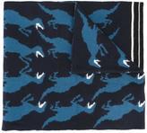 Paul Smith dinosaur pattern scarf