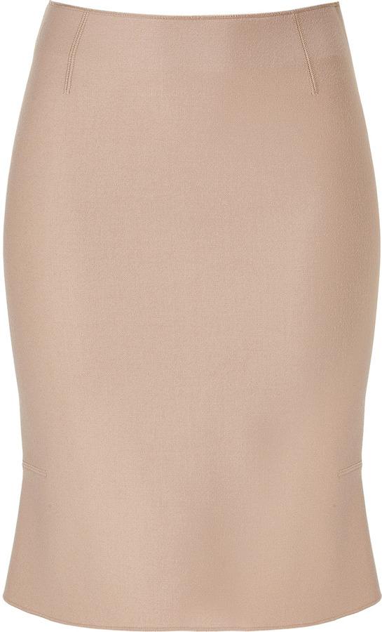 Alberta Ferretti Nude Peplum Skirt