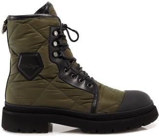 Salvatore Ferragamo Quilted Combat Boots