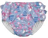 I Play Ruffle Snap Reusable Swimsuit Diaper, 18M, 12 to 18 Months, Light Blue Songbird