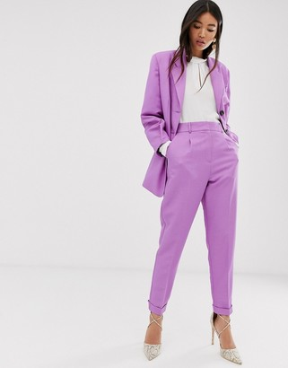 Asos DESIGN dream tapered suit pants in lilac