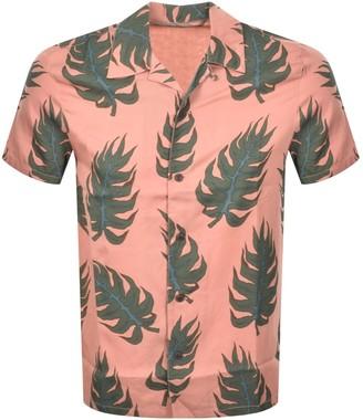 Nudie Jeans Short Sleeved Arvid Leaf Shirt Pink