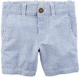 Carter's Seersucker Flat-Front Shorts