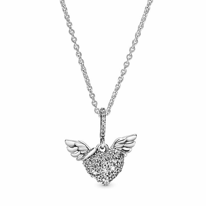 Pandora Women Silver Pendant Necklace 398505C01-45