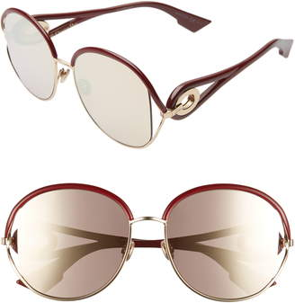 Christian Dior Newvolutes 57mm Round Sunglasses