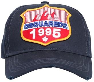 DSQUARED2 1995 Patch Cotton Canvas Baseball Hat
