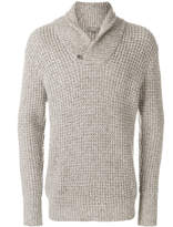 N.Peal twisted shawl cashmere jumper