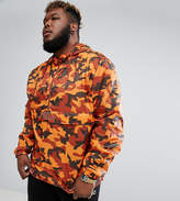 Puma Plus Pullover Windbreaker In Camo Print In Orange Exclusive To Asos 57663602