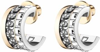 DEMARSON Portia Crystal Chain Earrings
