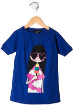 Little Marc Jacobs Girls' Graphic Print Short Sleeve Top