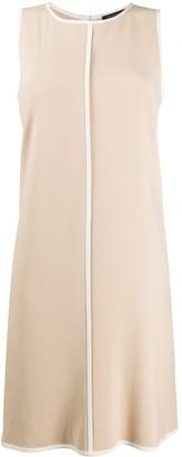 Antonelli Contrast Piped Trim Sleeveless Dress
