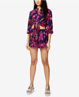 Rachel Roy Tie-Front Cropped Romper, Only at Macy's