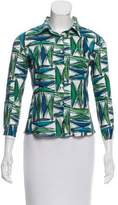 Marni Printed Button-Up Top