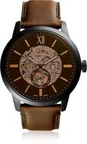 Fossil Townsman 48mm Automatic Brown Leather Men's Watch