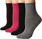 Hue Roll Top Shortie Socks 4-Pack