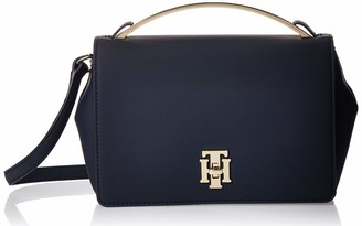 Tommy Hilfiger Womens Th Lock Crossover Cross-Body Bag Multicolour (Sky Captain)