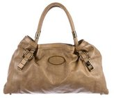 Chloé Distressed Leather Shoulder Bag