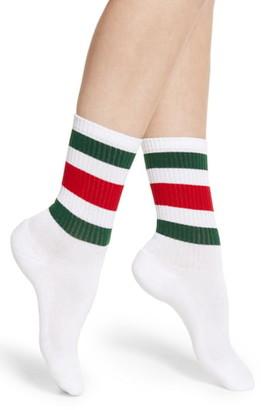Gucci Little William Stripe Crew Socks