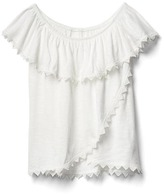 Gap Crochet trim off-shoulder top