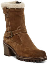 Manas Design Genuine Sheepskin & Faux Fur Suede Mid Boot