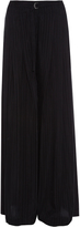 Raquel Allegra Striped wide-leg crepe de Chine trousers