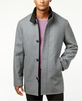 Kenneth Cole New York Kenneth Cole Men's Single-Breasted Charcoal Solid Car Coat