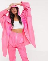 Nike Super Oversized Tonal Pink Windbreaker Jacket