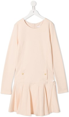 Chloé Kids TEEN pleated skirt dress