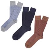 Etiquette Clothiers Royal Ribs Mercerized Socks (3 PK)