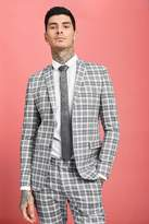 BoohooMAN Prince Of Wales Skinny Fit Check Suit Jacket