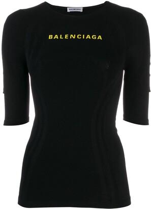 Balenciaga Logo Athletic Top