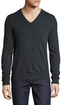 The Kooples Wool Solid V-Neck Sweater