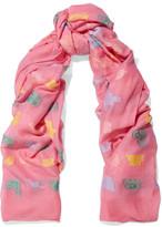 Alexander McQueen Fil Coupé Cotton-blend Chiffon Scarf - Pink
