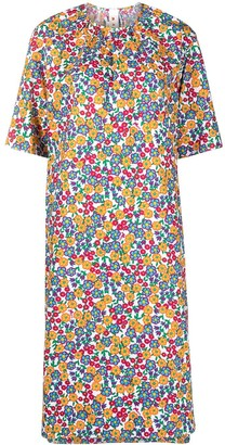 Marni Pop Garden Print Shift Dress