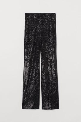 H&M Wide-leg Sequined Pants