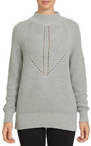 1 STATE Long Sleeve Mock Neck Cotton Blend Sweater